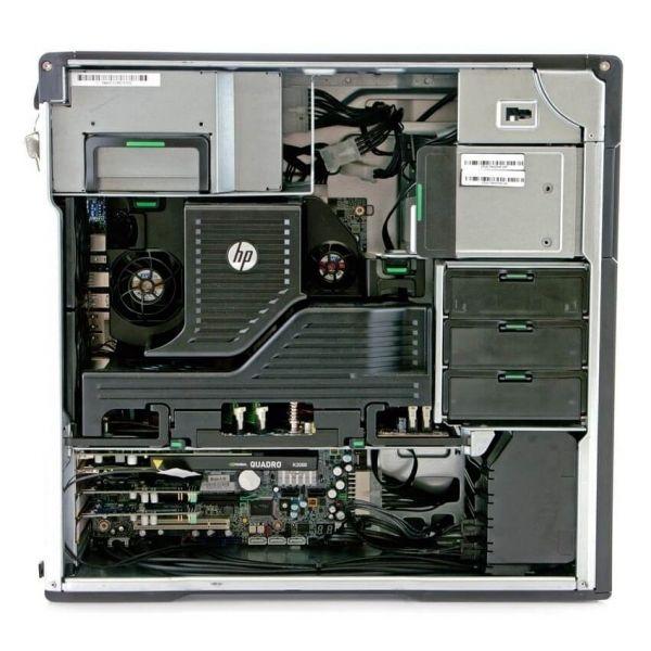 HP Z620, 2 x Intel Quad Core Xeon E5-2643 3.3 GHz, 32 GB DDR4, 500 SSD, nVidia Quadro M4000 8GB GDDR5, DVDRW, Win 10 Pro - 2 - C