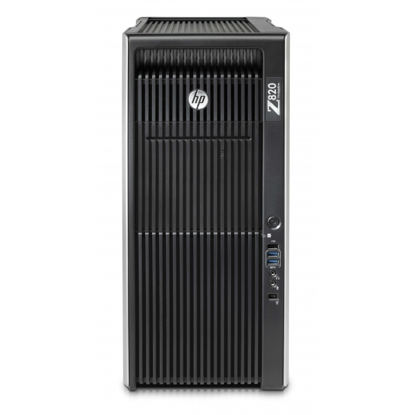 HP Z820, 2 x Intel Ten Core Xeon E5-2660 v2 2.2GHz, 64 GB DDR4, 256 SSD, nVidia Quadro M2000 4GB GDDR5, DVDRW, Win 10 Pro - 1 -