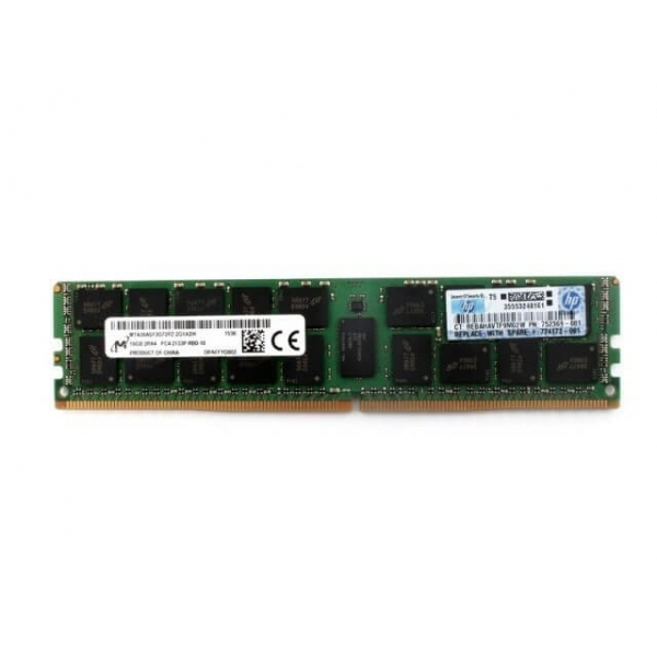 16GB DDR4 2133MHZ PC4-17000 2Rx4 CL15 HP 752369-081