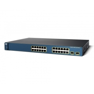 Switch Cisco Catalyst 3560-24PC, 20 x 10/100 (PoE) + 2 x SFP, Management Layer 2 - WS-C3560-24PS-S - 1 - Switch  - 235 Lei