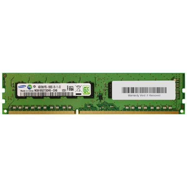 Memorie Server 4 GB 1Rx8 PC3-14900E DDR3-1600 MHz Unbuffered  ECC - 1 - Server Memory - 214,20 lei