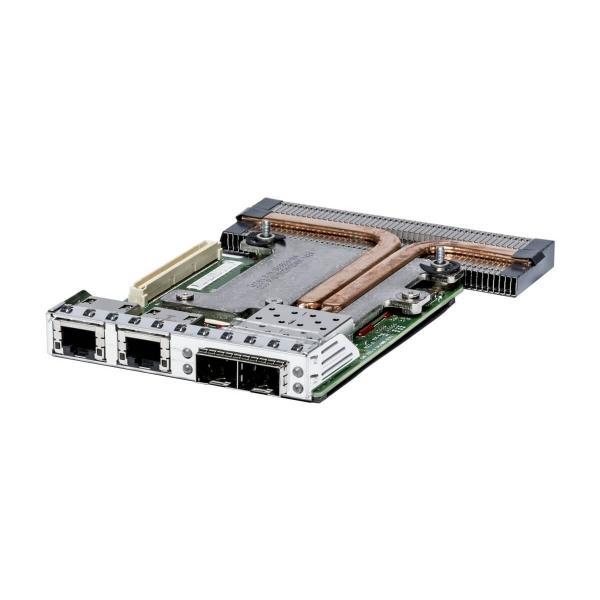 Daughter Card Dell Intel X520 2 port 10Gbps SFP+, Intel I350 2 port 1Gbps RJ45 Dell C63DV - 1 - Placa Retea Server - 476,00lei