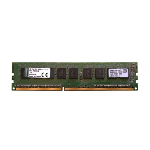 Memorie Server 4 GB 1Rx8 PC3L-12800E DDR3-1600 MHz Unbuffered  ECC - Kingston KTH-PL316ES/4G - 1 - Memorie Server - 151,73 lei