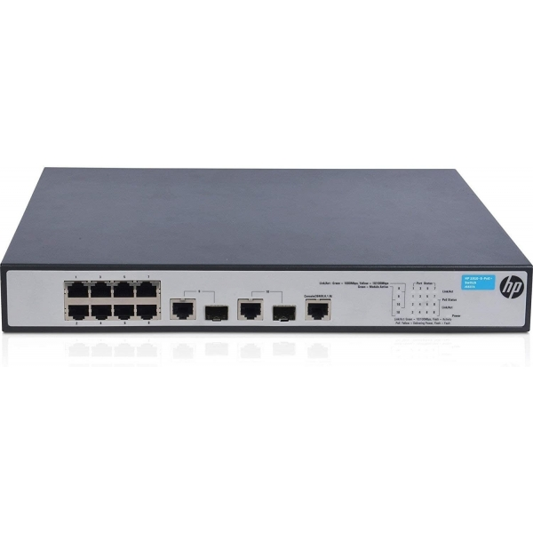Switch HPE OfficeConnect 1910 8 PoE+, 8 x 10/100/100(PoE) + 2 x SFP Combo, Management Layer 3 - JG537A - 1 - Switch - 276,08 lei