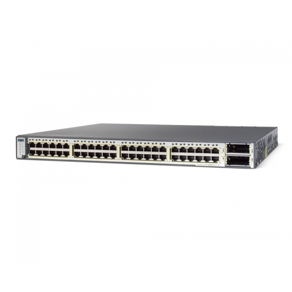 Switch Cisco Catalyst 3750E-48TD, 24 x 10/100/1000 + 2 x 10Gbps (X2), Management Layer 3 - WS-C3750E-48TD-E - 1 - Switch - 952,0