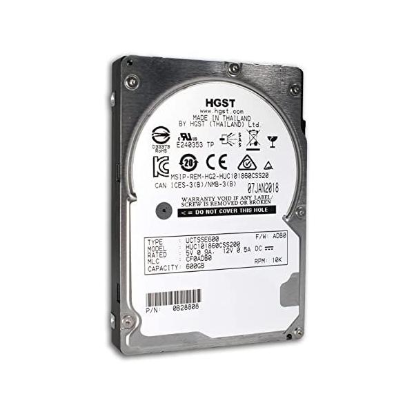 "Hard Disk Server 600GB SAS 10k 12Gbps 2.5"" HGST/Hitachi Ultrastar C10K1800 - HUC101860CSS200 - 1 - Hard Disk Server - 284,89lei"