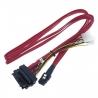 Cablu SAS 36-Pin (SFF 8087) la 4x SAS 29-Pin (SFF 8482) + 4 Molex 4 pin Power, 1 m - 1 - Cabluri si Adaptoare - 178,50lei