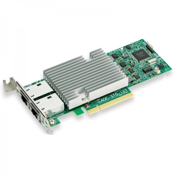 Placa Retea Server Intel X540-T2 Dual Port 10Gb Ethernet RJ45 Low Profile - SuperMicro AOC-STG-i2T - 1 - Server Network Adapter