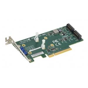 Super Micro AOC-SLG3-2M2, Dual M.2 SSD NVMe PCIe - 1 - Componente server - 236,81lei