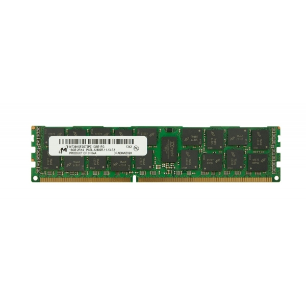 Memorie Server 16GB (1x16GB) Dual Rank x4 PC3L-12800R (DDR3-1600) Registered CAS-11 1.35v Low Voltage - Micron MT36KSF2G72PZ-1G6