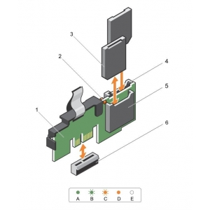 Dual SD Card Reader Module for Dell PowerEdge R630 / R730 / R430 / R530 - 0PMR79 - 2 - Server Components - 238,00lei