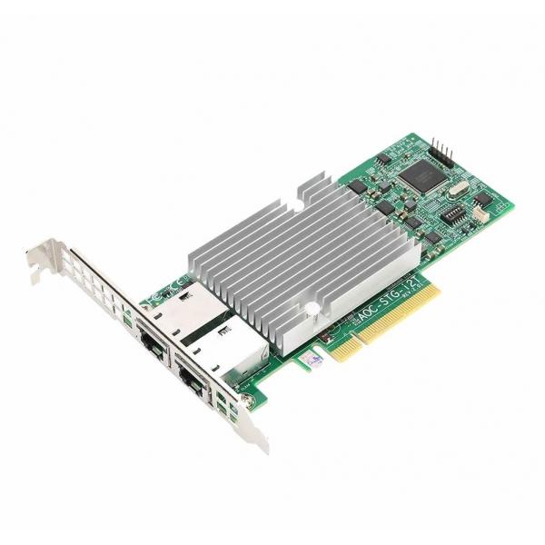 Placa Retea Server Intel X540-T2 Dual Port 10Gb Ethernet RJ45 High Profile - Supermicro AOC-STG-i2T - 1 - Placa Retea Server - 6